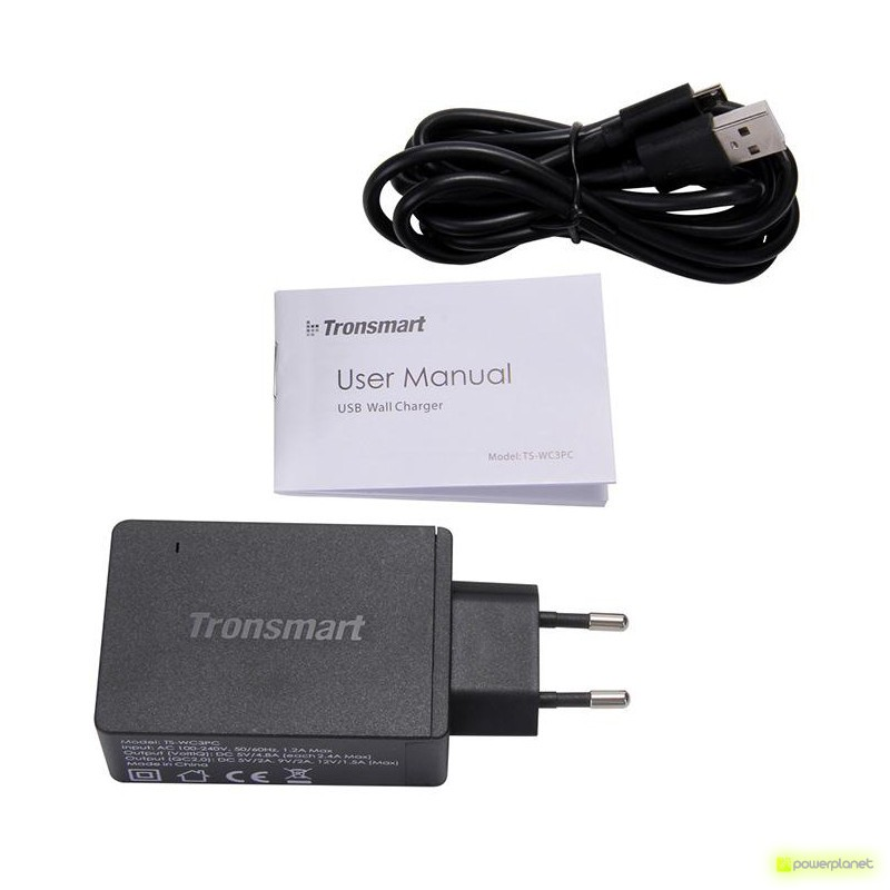 Tronsmart WC3PC USB Quick Charge 2.0 de 3 Puertos - Ítem1