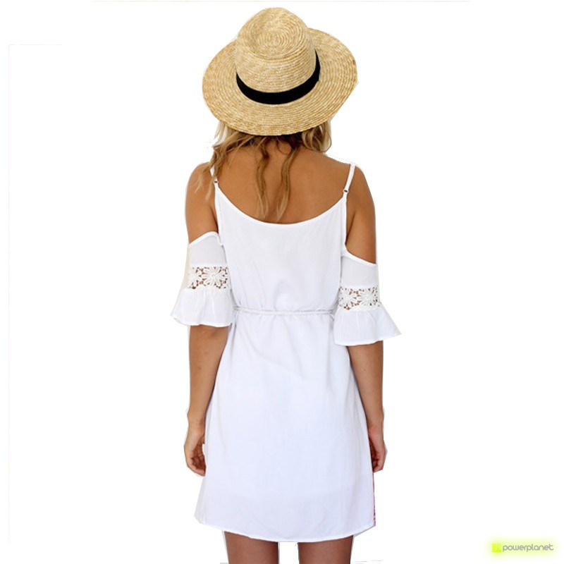 Vestido de verão sem mangas Branco - Mulher - Item1