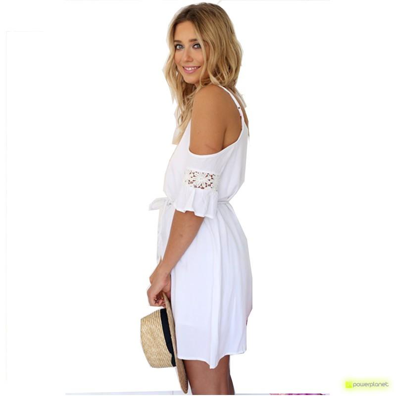 Vestido de verão sem mangas Branco - Mulher - Item2