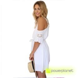 Vestido sin mangas veraniego Blanco - Mujer - Ítem2