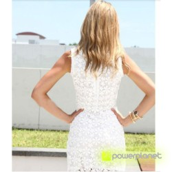 Vestido de encaje sin mangas Blanco - Mujer - Ítem1