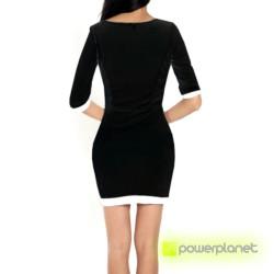 Vestido de túnica preta - Mulher - Item2