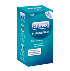 Durex Natural Plus Preservativos 24 uds