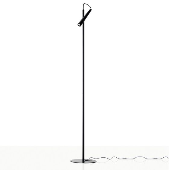 Lámpara de pie con cabezal orientable, ideal para estudio y mesilla de noche, colores blanco o negro.