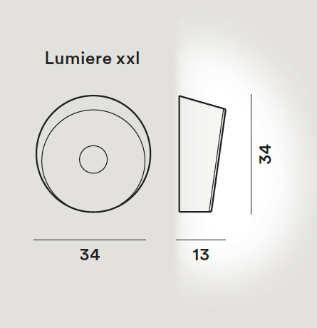 Lámpara pared Lumiere XXL + XXS