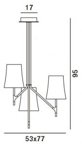 Lámpara Birdie colgante