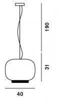 Medidas Lámpara Chouchin Reverse Foscarini 2