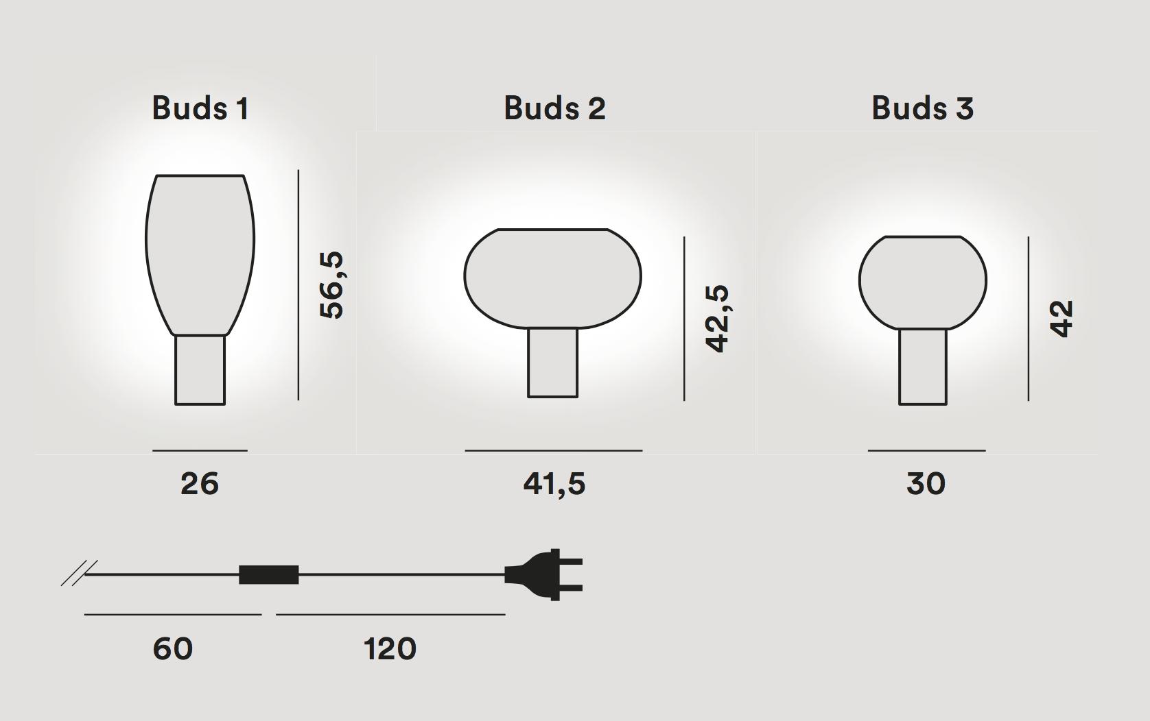 Lámpara Buds 1