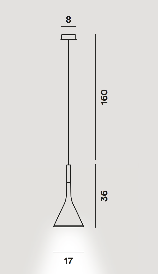 medidas Lámpara Aplomb Foscarini