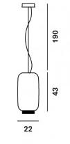 Medidas Lámpara Chouchin Reverse Foscarini