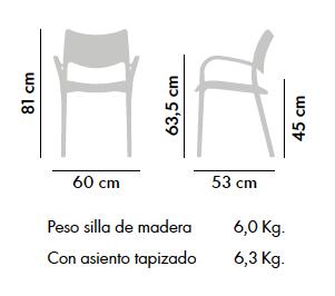 Silla Laclasica c/ brazos