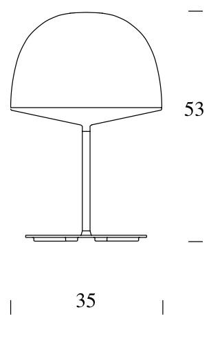 Lámpara s. mesa Cheshire