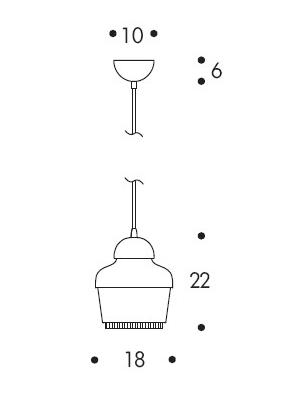 Lámpara Nur Artemide