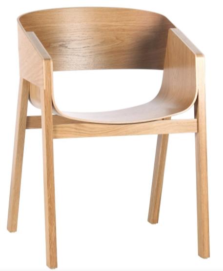 mejor precio merano Sillón de madera maciza y laminada de haya, roble o nogal, de diseño elegante y acogedor con posibilidad de múltiple acabados y tejidos.
