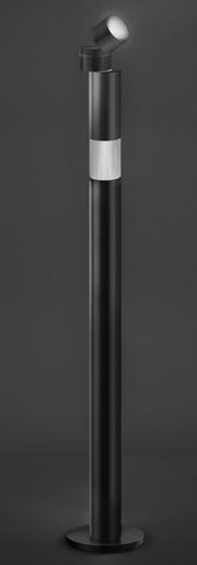 Lámpara de pie Objective, Como el objetivo de una cámara fotográfica, enfoca el destino del haz luminoso. Artemide, Jean Nouvel, Oferta Artemide
