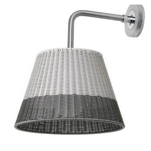 Luze, distribuidor aplique pared para exterior Romeo W1 gris, diseño de Philippe Starck para Flos.