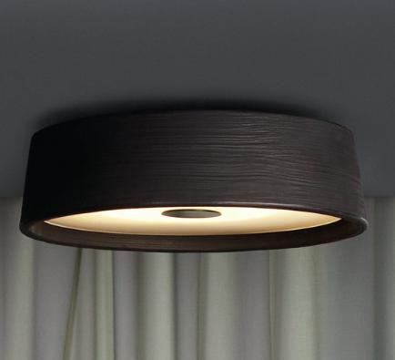 Plafón de techo circular con varios diámetros y luz directa LED.