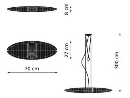 medidas lampara Titania de luceplan online