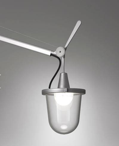Lámpara de pie Tolomeo Lampione para exterior, Diseño de Michele de Lucchi y Giancarlo Fassina para Artemide.