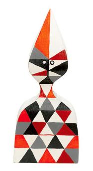Muñeca de madera Wooden Dolls, nº 12, diseño de Alexander Girard para Vitra.