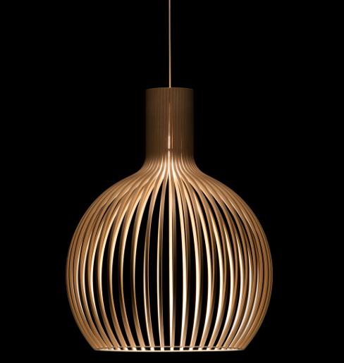 mejor precio de la lampara finlandesa de madera Octo de la marca Secto