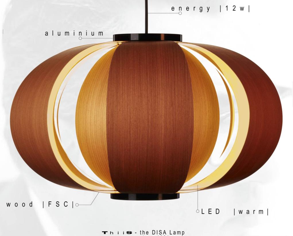oferta de la lampara diseño de arquitecto coderch de madera