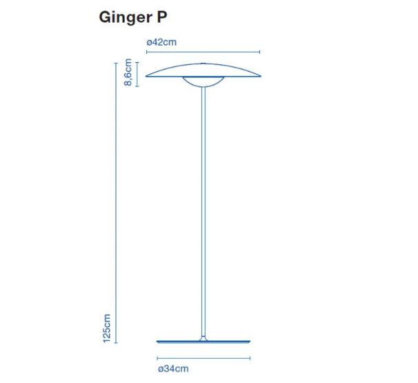 Lámpara pie Ginger