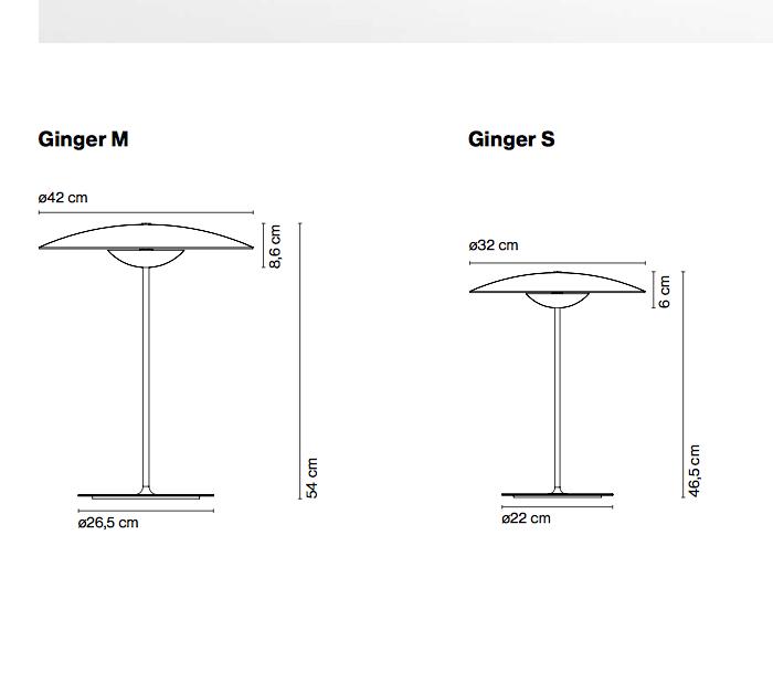 Lámpara mesa Ginger S y M