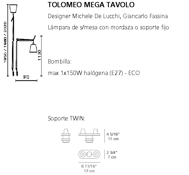 Tolomeo Mega Tavolo