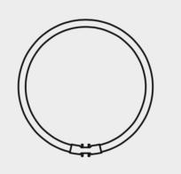 Tubo Fluo. 2GX13 (2 uds)