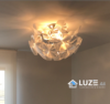 lampara hope plafon pequeña de luceplan encendida