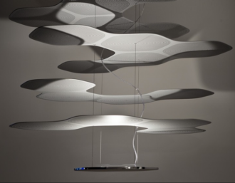 comprar lampara colgante de suspension space cloud de artemide online