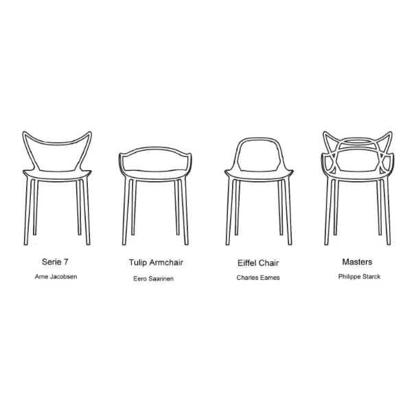 silla masters de kartell philippe starck. Black Bedroom Furniture Sets. Home Design Ideas