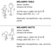 Lámpara Melampo Tavolo