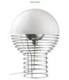Lampara Wire lamp blanca Verner Panton