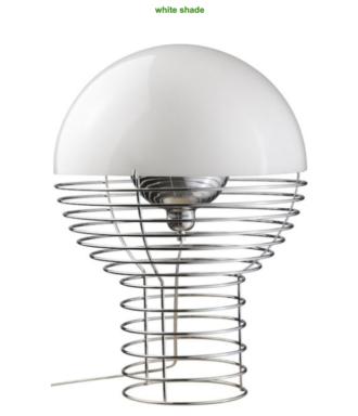 lampara wire lamp sobremesa diseñada por Verner Panton