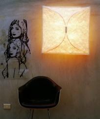 lámpara techo y pared