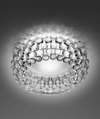 Lámpara bolitas cristal de plafon Caboche diseño de patricia urquiola Foscarini