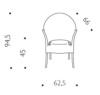 medidas Silla Lord Yo diseño Philippe Starck para driade