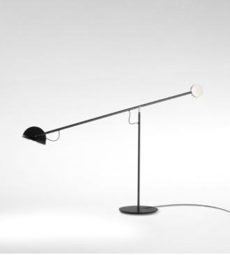 mejor precio Lámpara de estudio o sobre mesa como una balanza en equilibrio entre el cabezal y contrapeso.
