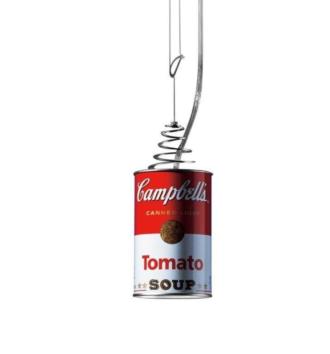 lampara Ingo maurer Bote campbells CANNED LIGHT warhol