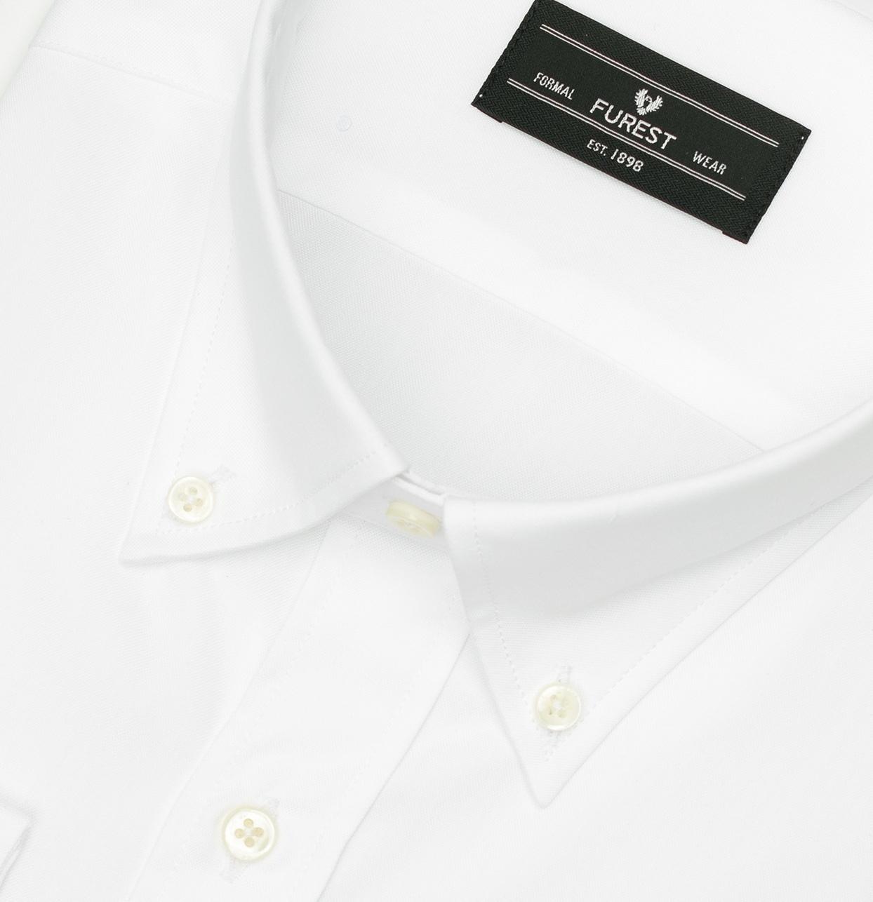 Camisa Formal Wear REGULAR FIT Modelo BOTTON DOWN Tejido Pin point color blanco, 100% Algodón - Ítem2