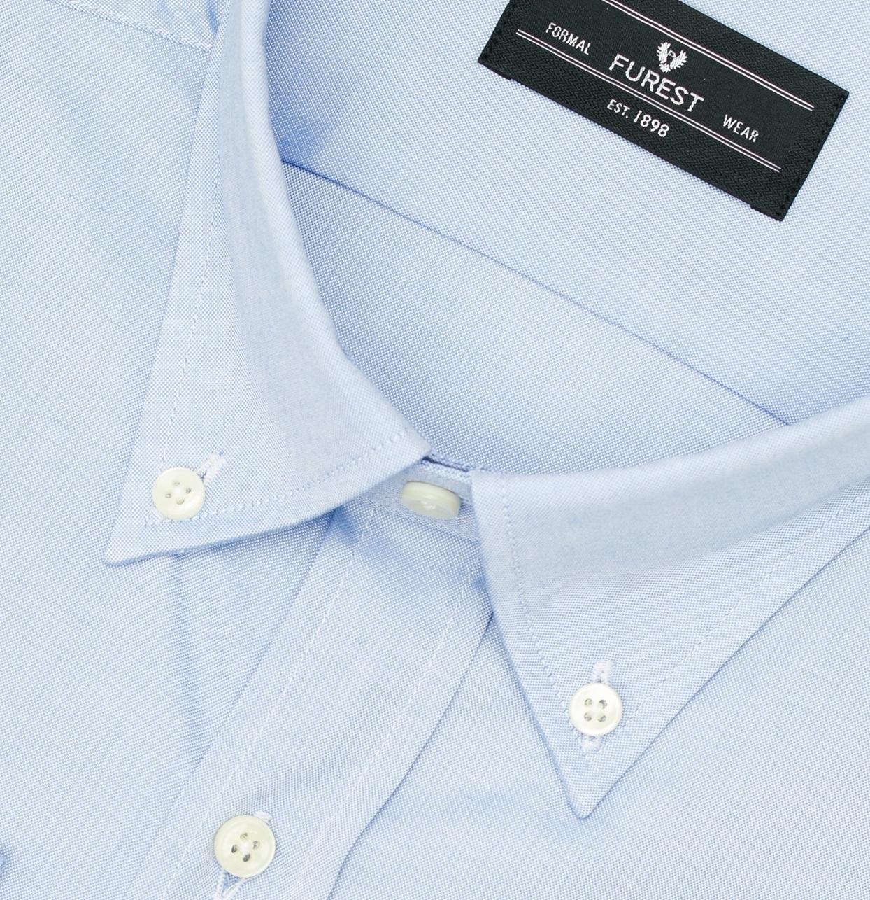 Camisa Formal Wear REGULAR FIT Modelo BOTTON DOWN Tejido Pin point color azul, 100% Algodón - Ítem1