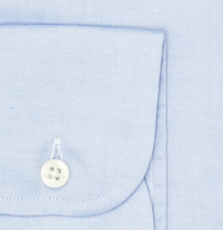 Camisa Formal Wear REGULAR FIT Modelo BOTTON DOWN Tejido Pin point color azul, 100% Algodón - Ítem2