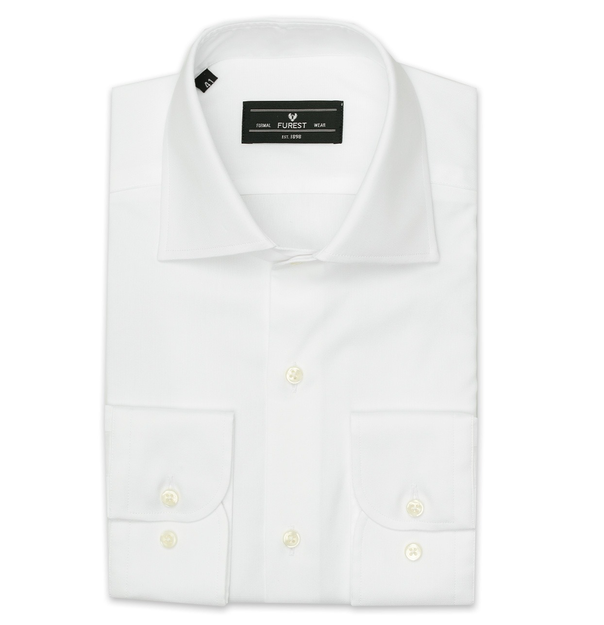 Camisa Formal Wear REGULAR FIT cuello Italiano modelo NAPOLI tejido pin point color blanco, 100% Algodón.