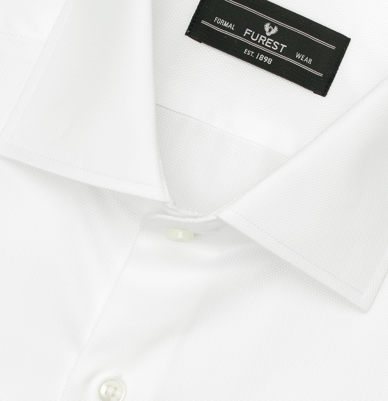 Camisa Formal Wear REGULAR FIT cuello Italiano modelo NAPOLI tejido micro esterilla color blanco,100% Algodón. - Ítem1