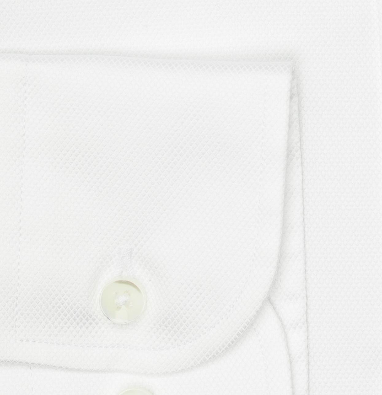 Camisa Formal Wear REGULAR FIT cuello Italiano modelo NAPOLI tejido micro esterilla color blanco,100% Algodón. - Ítem2