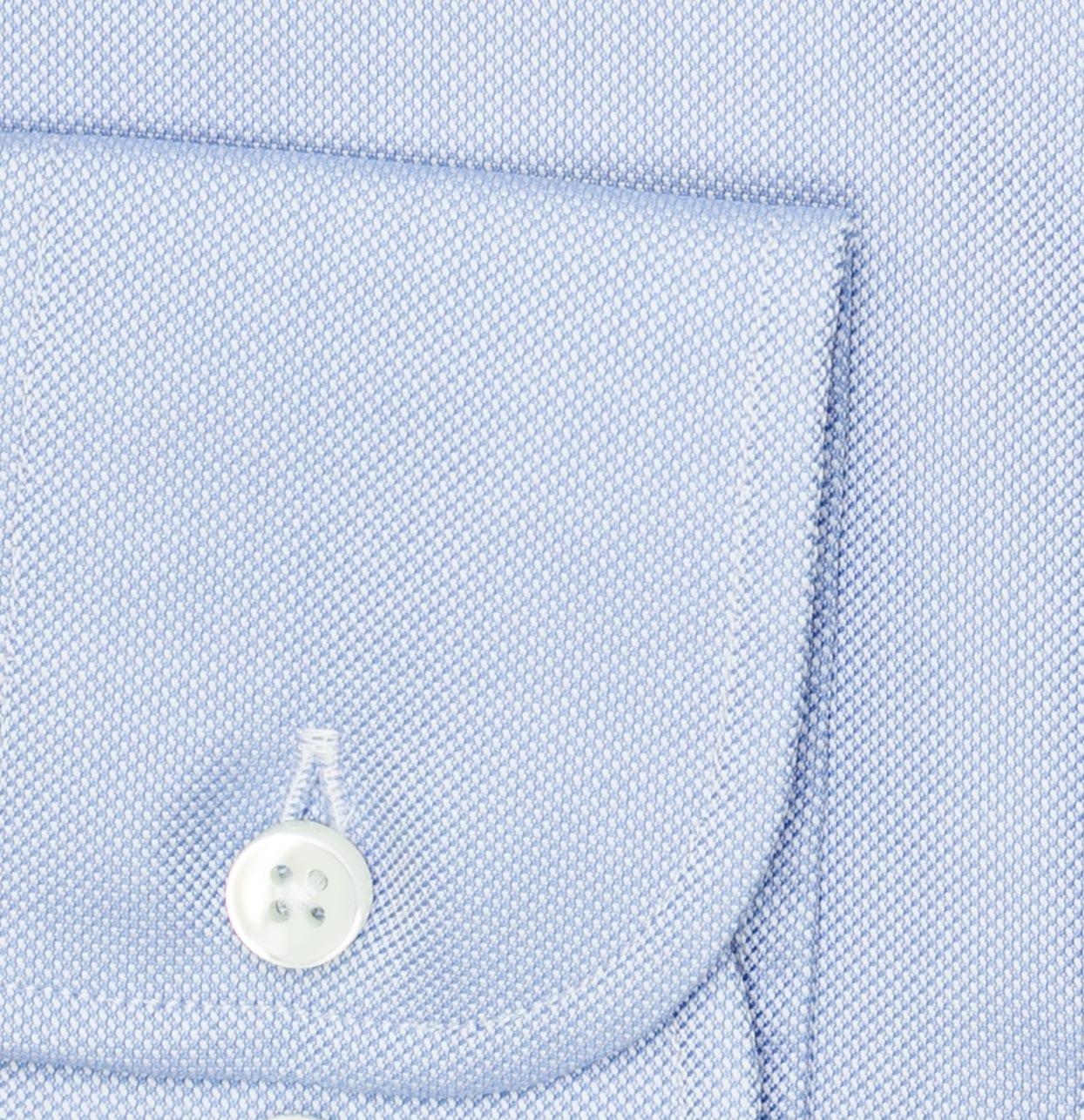 Camisa Formal Wear REGULAR FIT cuello Italiano, modelo NAPOLI tejido micrograbado color azul, 100% algodón. - Ítem2