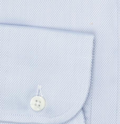Camisa Formal Wear SLIM FIT cuello italiano modelo ROMA tejido micro dibujo color celeste, 100% Algodón. - Ítem2