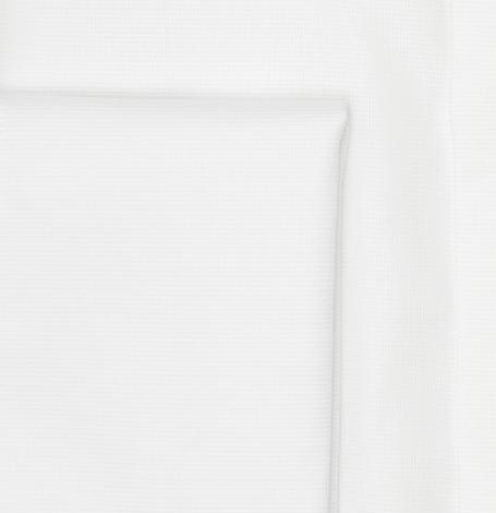 Camisa Formal Wear REGULAR FIT cuello Italiano y puño doble modelo ROMA tejido micro textura color blanco, 100% Algodón. - Ítem2